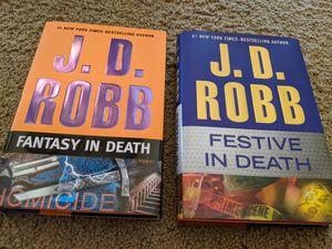 J D Robb Hardcover Fantasy in Death & Festive in Death HardBacks like new for Sale in Wichita, KS