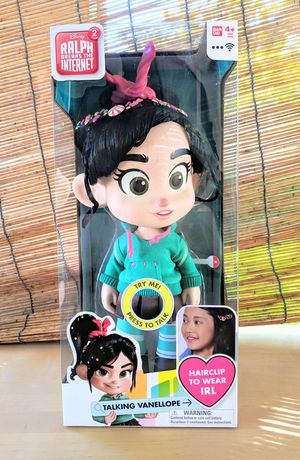 Wreck-It Ralph Talking VANELLOPE Doll with Wearable Hair Clips. for Sale in Palmdale, CA