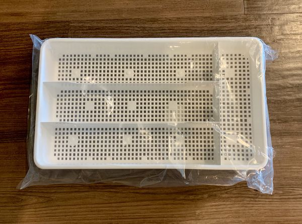Dial Industries Small Mesh Cutlery Organizer Tray, White
