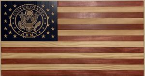 Handmade Wood Flag - Carved Union for Sale in Watsontown, PA