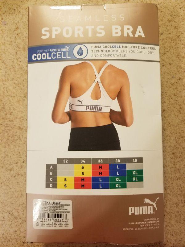 Original puma sports bra for woman size XL. New
