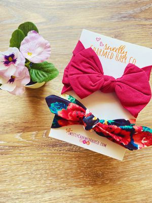 Infant toddler newborn girl bow headband set for Sale in Avondale, AZ