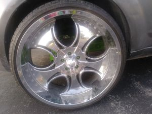 24 inch rims with tires for Sale in Independence, MO