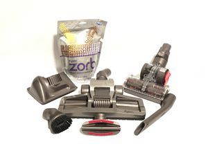 Six Piece Dyson Vacuum Attachment/Replacement Tools With Carpet Maintenance Powder for Sale in Riverside, CA