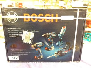 Bosch 18V Lithium-Ion 4 Tool Combo Kit(New in Box) for Sale in Orange, CA
