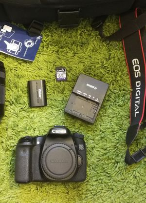 Canon eos 70d DSLR camera with accessories for Sale in Alhambra, CA