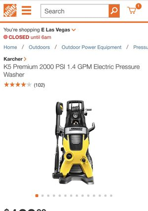 ELECTRIC PRESSURE WASHER K5 for Sale in Las Vegas, NV