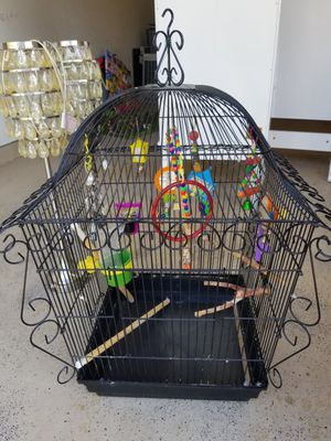 Bird Cage and toys for Sale in Katy, TX