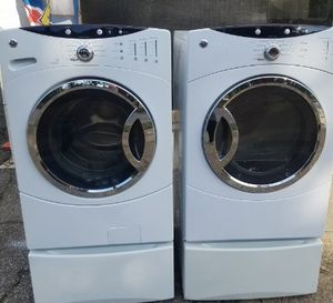 Save 100's on Like New GE Front Load Washer and Electric Dryer Set on Peds with Warranty, Military Discount, and Delivery Available for Sale in Virginia Beach, VA