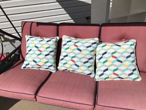 Patio pillows for chair or swing for Sale in Allen Park, MI