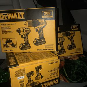 3 Dewalt Brushless 2 tool combo kit for Sale in Revere, MA