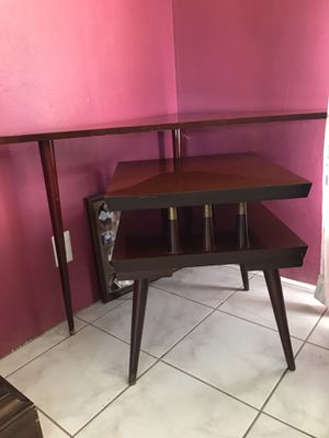 Retro mahogany pieces, End table, corner lamp table and storage cabinet for Sale in Oakland Park, FL