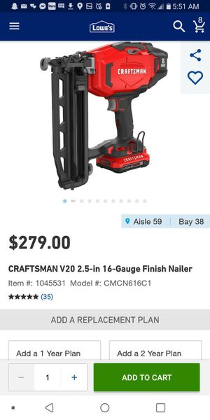 Nail gun craftsman for Sale in Kent, WA