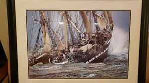 Matted and Framed Beautiful Nautical Print Artwork for Sale in Meriden, CT
