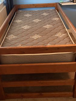 Twin Heavy Good Wood Bed Without Mattress for Sale in Yorba Linda,  CA