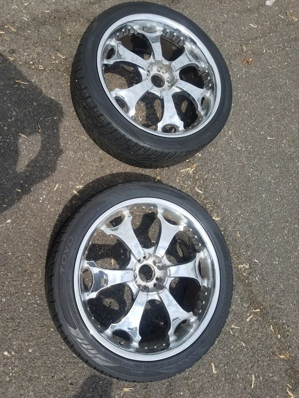 """Chrome( Universal )""""22""""inch wheels and tires"""