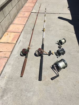 Deep sea fishing rods and reels for Sale in Torrance, CA
