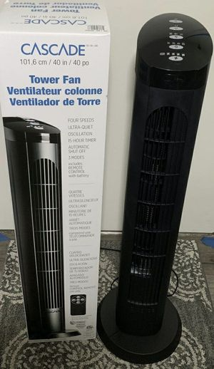 $20 each 40 inches spinning cascade fan open box tower fan oscillation timer quiet for Sale in Whittier, CA