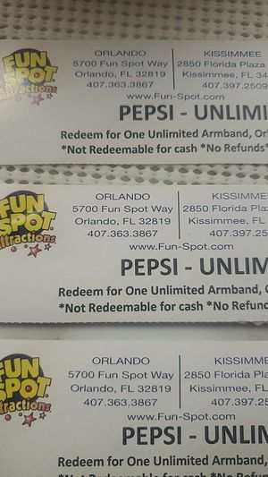 Fun spot tickets for Sale in Astatula, FL