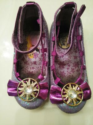 Disney Rapunzel dress up shoes - girls size 9/10 for Sale in Cutler Bay, FL