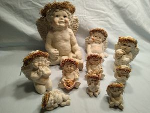 Dreamsicle Angel Figurines-Set of 10 for Sale in Washington, IL