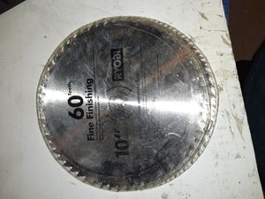 "10"" 60t table saw miter saw blade for Sale in Hemet, CA"