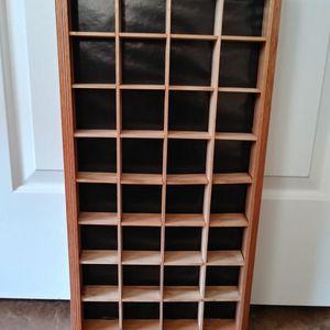 Vintage Oak Shadow Box Display Shelf for Sale in Pearland, TX