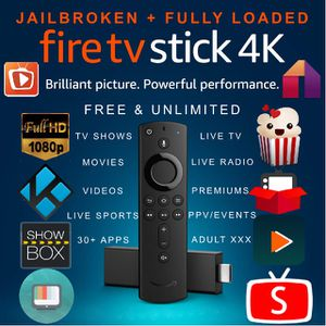Jailbroken + Fully Loaded Fire TV Stick 4k for Sale in Joint Base Lewis-McChord, WA