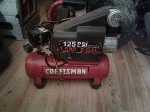 Craftsman 2 gallon portable air compressor for Sale in Bristol, PA