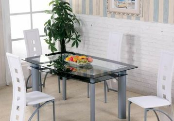 No Credit Needed New Box 5 Piece Glass Dining Table Set for Sale in College Park,  MD