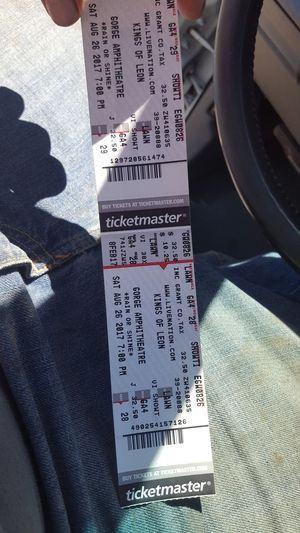 Kings of leon 8/26 @ the gorge for Sale in Tacoma, WA