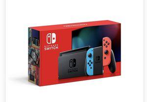 Nintendo switch console neon blue/neon red joy con for Sale in Atlanta, GA