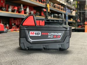 MILWAUKEE M18 RED LITHIUM 5.0AH BATTERY for Sale in Moreno Valley, CA