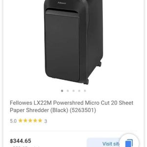 20 Sheet At A Time Paper Shredder. for Sale in Richmond, KY