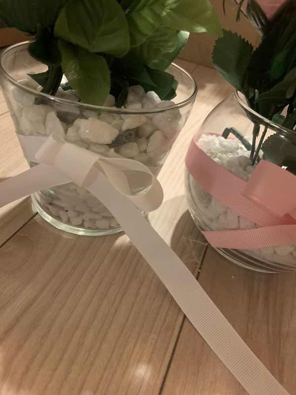Faux Flower Vases/Centerpieces