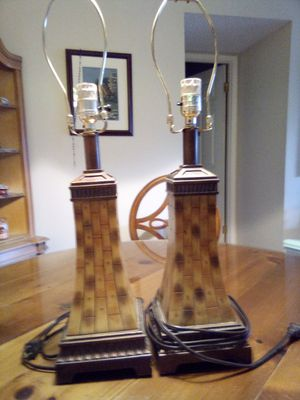 Pair of lamps vintage for Sale in Pompano Beach, FL