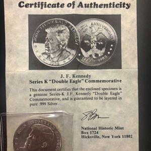 "J.F.Kennedy Uncircirculated .Series K ""Double Eagle"" Commemorative for Sale in Ashburn, VA"