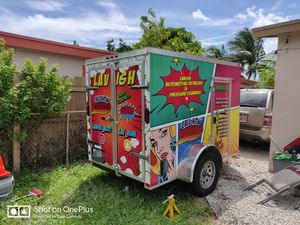 Enclosed trailer 5x8 single axle double door for Sale in Pompano Beach, FL