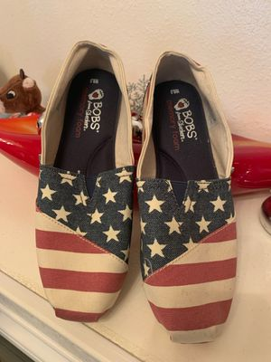 Sketchers Bobs American Flag woman's slip on shoes for Sale in Las Vegas, NV