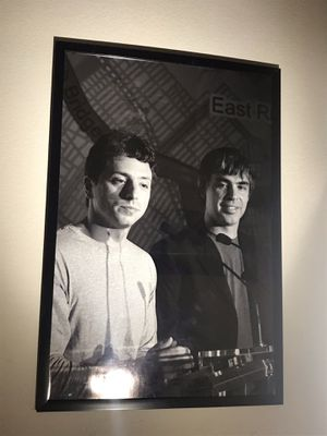 Google / Alphabet inc. Founders Sergey Brin and Larry Page huge print for Sale in Cupertino, CA