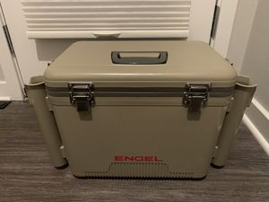Engel 19qt Cooler/Dry Box w/fishing rod holders for Sale in Poway, CA