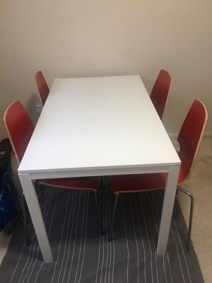 Ikea dining table and 4 chairs for sale for Sale in North Potomac, MD