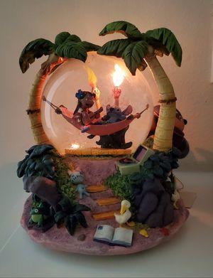 Disney Lilo & Stitch Musical Light-up Snowglobe Water Snow Globe collectible statue for Sale in Fullerton, CA