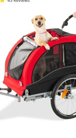 New, 2-in-1 Pet Stroller and Trailer w/ Hitch, Suspension, Safety Flag, Red for Sale in Columbus,  OH