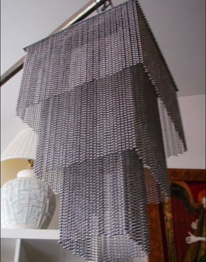 TODAY ONLY unique silver plated metal curtain lamp, H15xW9 for Sale in Sun Lakes, AZ