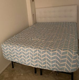"Firm 16"" mattress, headboard and metal frame for Sale in Fairfax, VA"