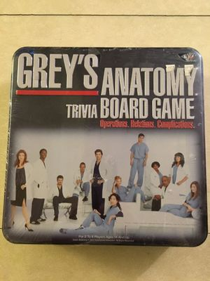 Brand new 2007 Grey's Anatomy trivia board game for Sale in Cleveland, OH
