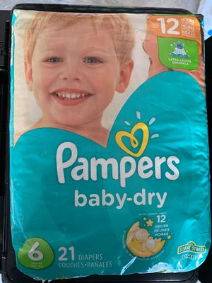 Pampers size 6 only 1 avail $5 for Sale in Durham, NC
