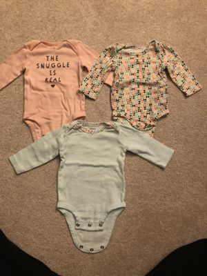 3 month girl long sleeved onesies for Sale in Phoenixville, PA