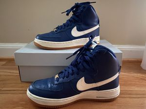 Nike Air Force Ones AF1 Youth Shoes Size 4.5 High Top Blue White Gum VG for Sale in Stone Mountain, GA
